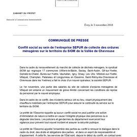 Courrier de la Préfecture de l'Essonne