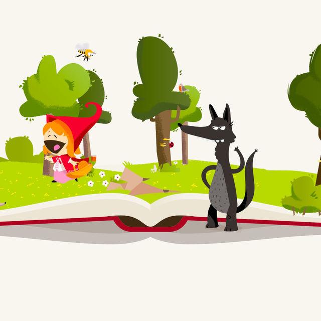 Illustration du conte : le petite chaperon rouge