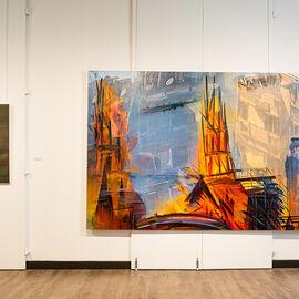 """Exposition """"Histoire, histoires en peintures"""" au Val Fleury  Rez-de-chaussée - Claire Tabouret, Duncan Wylie"""