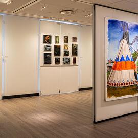"""Exposition """"Histoire, histoires en peintures"""" au Val Fleury  Premier étage - Philippe Nuell, Jérôme Romain, Damien Cadio"""