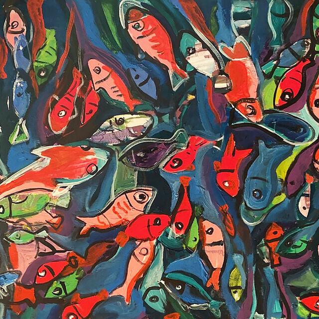 Exposition peinture Ali Darwish : La terre est entre nos mains