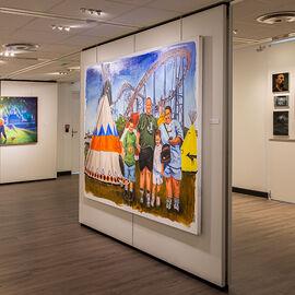 "Exposition ""Histoire, histoires en peintures"" au Val Fleury  Premier étage - Philippe Nuell, Damien Cadio, Nina Childress"