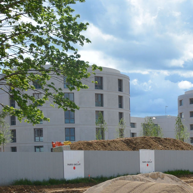 Logements universitaires sur le campus Paris-Saclay.