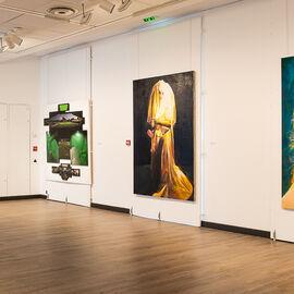 """Exposition """"Histoire, histoires en peintures"""" au Val Fleury  Rez-de-chaussée - Mireille Blanc, Guillaume Bresson, Jean-Luc Blanc, Nina Childress"""