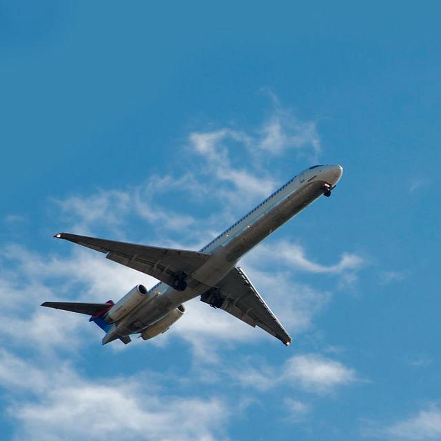 Décollage d'un avion.