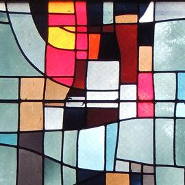 Démonstration de création d'un vitrail par un maître-verrier