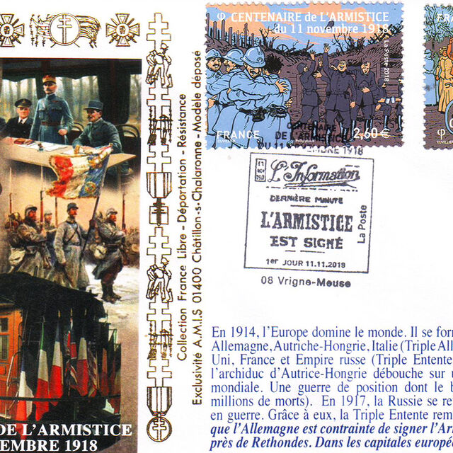 Exposition philatélique : l'armistice du 11 novembre 1918