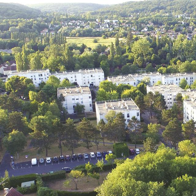 Quartier de l'Abbaye à Gif-sur-Yvette.